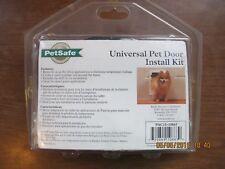 Universal Pet Door Kit Petsafe Installation Install Water Resistant Seal