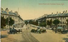 UK Bath - Laura Place and Pulteney Street old postcard