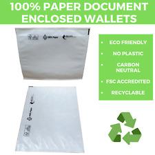 ECO FRIENDLY - 100% PAPER DOCUMENTS ENCLOSED WALLETS - Envelopes Adhesive Bio