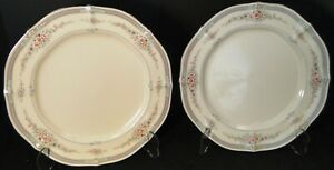 """Noritake Rothschild Dinner Plates 7293 10 1/2"""" Ivory China Set of 2 Excellent"""