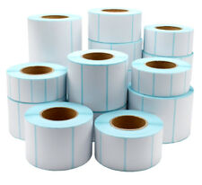 ALL SIZES Thermal Direct Label adhesive Labels Perforated Sticker Label Rolls