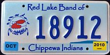 """MINNESOTA """" RED LAKE CHIPPEWA NATION TRIBE - EAGLE  Indian Graphic License Plate"""