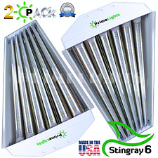 2 PACK LED HIGH-BAY WAREHOUSE LIGHT BRIGHT WHITE SHOPLIGHT REPLACE METAL HALIDE