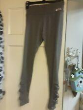 New listing Justice Girl's LATTICE HEM Mesh Leggings Gray Heather Dance Gymnastics Size 12