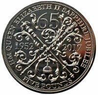 Sapphire Jubilee 65 Yrs £5 Five Pound BU Coin Queen Elizabeth II Guernsey 2017