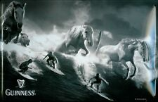 Guinness Surfer Metal Sign Signboard 3D Embossed Arched Tin 20 x 30 CM