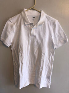 2 PACK Old Navy White XL (14-16) Boys Short Sleeve Polo __________________R4C2