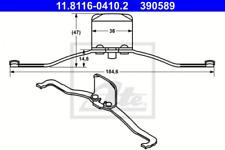 Feder, Bremssattel für Bremsanlage Vorderachse ATE 11.8116-0410.2