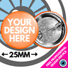 Custom Badges Personalised Wedding Stag Hen Bespoke Birthday Badge 25mm 38mm 59