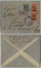 VENEZIA TRIDENTINA-5h+due 20h(28/30)-Busta Trieste->Loco 21.2.1919