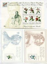BELGIUM 1989-90 MNH MINI SHEET Lot FLOWERS 3 Items Michel cat EURO 52