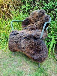 XXXXL Huge British Jacobs Brown Sheepskin Rug - 125cm by 80cm A++ (2726)