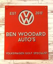 Personalised VW Autos Garage Metal Sign - Volkswagen Beetle Campervan Golf Speci