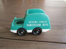 vintage Fisher Price Little People Sesame St Sanitation Department Garbage Truck