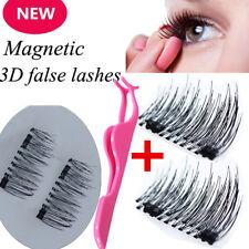 4Pcs 3D Magnétique Faux Cils Extension Réutilisable Aimant Sans Colle + Pince