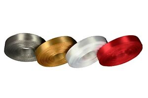 """CHRISTMAS Set 4 Rolled up 3/8"""" SF SATIN Ribbon 10 Yds each ( 40 Yds Total )"""