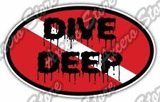 """Scuba Diving Dive Deep Diver Deep Sea Ocean Car Bumper Vinyl Sticker Decal 6""""X4"""""""