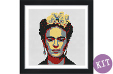 Frida Kahlo Pop Art  - Cross Stitch Kit