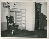 Elektrischer Stuhl, Charlestown State Prison, Boston, Orig. Presse-Photo v. 1956