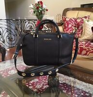 NWT, Michael Kors Large Leather Raven Shoulder Crossbody Handbag/Purse