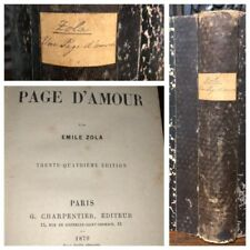 Antique Book 1879 Emile Zola Une Page D'Amour Rougon Macquart  In FRENCH