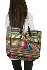 Beach Tote Fashion Shoulder Bag Handbag Everyday Canvas Casual Hippie Travel