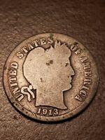 1913 S Barber Dime