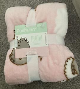Pusheen Primark Home Pink Cat Throw 125cm x 150cm