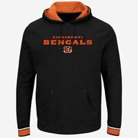 Cincinnati Bengals Championship Pullover Hoodie Black Plus Sizes Embroidered NFL