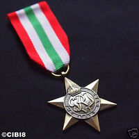 ITALY STAR MEDAL WW2 BRITISH COMMONWEALTH MILITARY AWARD FULL SIZE REPRO NAVY