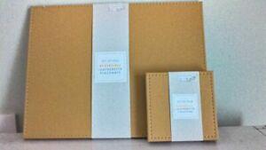Reversible Placemats & Matching Coasters Ochre Yellow Mustard Grey Brand New