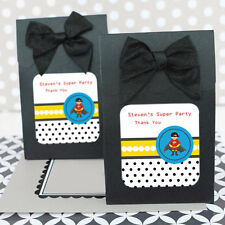 24 Super Hero Boy Personalized Candy Boxes Bags Birthday Party Favors