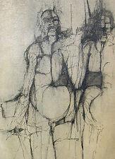 "George ketterl 1939-2010/tinta china en lnw./firmado/1966 ""orlando Galleria"""