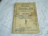 Case model D series tractors No.4805353 operator's manual book manual