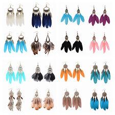 Wholesale 24 Pairs Mixed Bohemian Vintage Women Tassel Feathers Earrings Sales
