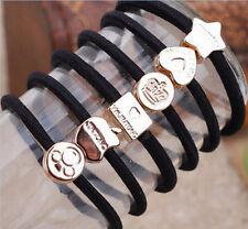 10Pcs Mixed Design Black Ponytail Holder Elastic Rope Hair Band Headband Jewelry