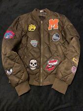 zara patch jacket khaki size L great conditon