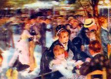 3D Lenticular Postcard - Renoir -Dance at Le Moulin de la Galette (1876)