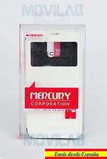 Funda Mercury tapa libro gel  ventana y soporte Samsung G900 Galaxy S5 blanco