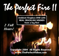 FIREPLACE DVD Multiple Logs w/ Real Crackling Sounds Warm Romantic Holiday Video