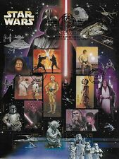 STARWARS CELEBRATION VI -15 U.S. 41¢ Postage Stamps on a sheet- 1st Day of Issue