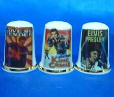 Birchcroft Thimbles -- Set of Three -- Elvis Presley Movie Posters