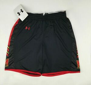 New Under Armour Maryland Terrapins Livewire Short Men's Large Black Basketball