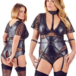 "Queen Size Straps-Body XL 2XL 3XL 4XL Spitze 2-Wege-Zip sexy Dessous ""Bibiana"""