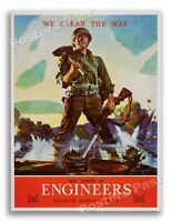 """20x24 1944 /""""Submarine Service/"""" US Navy Vintage Style WWII Recruiting Poster"""