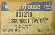 WESTINGHOUSE DS121R Disconnect Switch 30 Amp 240V 750B614G04