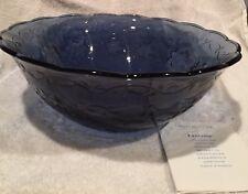 HEY 👋 L👀K: Rare-Princess House Fantasia Sapphire Blue-Large Salad Bowl (NIB)