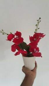 Red Flower Vase Modern Mid Century Ruby Over Abstract Rosenthal Netter