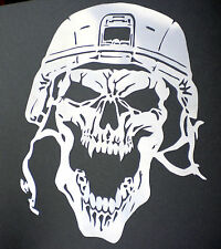 high detail airbrush stencil  army  skull  8 FREE UK  POSTAGE