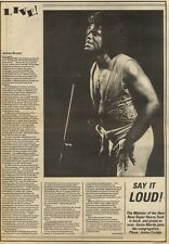 12/12/81PGN49 REVIEW: JAMES BROWN LIVE IN BIRMINGHAM WITH PICTURE 15X11